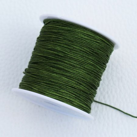 Nylon shamballa zsinór 0,8mm vastagságú - m72 (olívazöld) /m