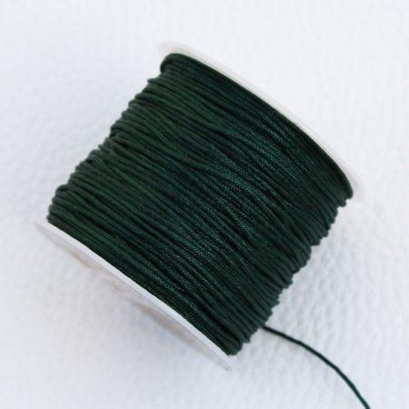 Nylon shamballa zsinór 0,8mm vastagságú - m75 (sötétzöld) /m