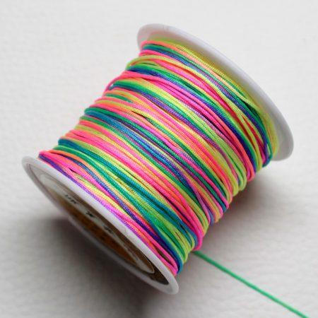 Nylon shamballa zsinór 0,8mm vastagságú - m99 (multicolor) /m