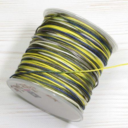 Nylon shamballa zsinór 1mm vastagságú - m96 (multikolor) - kb. 100m