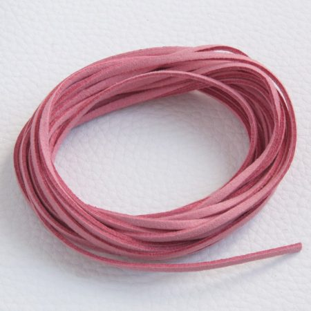 """Művelúr """"bőr"""" szál (hasítottbőr utánzat) 2,5 x 1,4mm-es - mv14 fáradt rózsaszín - 4m"""