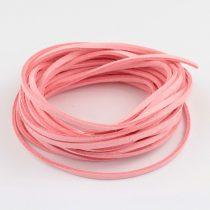 """Művelúr """"bőr"""" szál (hasítottbőr utánzat) 2,5 x 1,4mm-es - mv17 rózsaszín - 4m"""