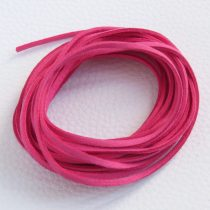 """Művelúr """"bőr"""" szál (hasítottbőr utánzat) 2,5 x 1,4mm-es - mv19 sötét rózsaszín - 4m"""