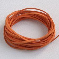 """Művelúr """"bőr"""" szál (hasítottbőr utánzat) 2,5 x 1,4mm-es - mv32 narancssárga - 4m"""