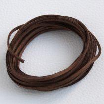 """Művelúr """"bőr"""" szál (hasítottbőr utánzat) 2,5 x 1,4mm-es - mv42 csokibarna - 4m"""