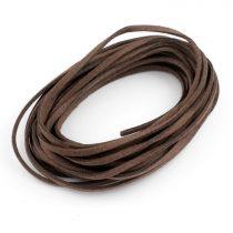 """Művelúr """"bőr"""" szál (hasítottbőr utánzat) 2,5 x 1,4mm-es - mv43 sötétbarna - 4m"""