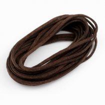 """Művelúr """"bőr"""" szál (hasítottbőr utánzat) 2,5 x 1,4mm-es - mv44 vöröses sötétbarna - 4m"""