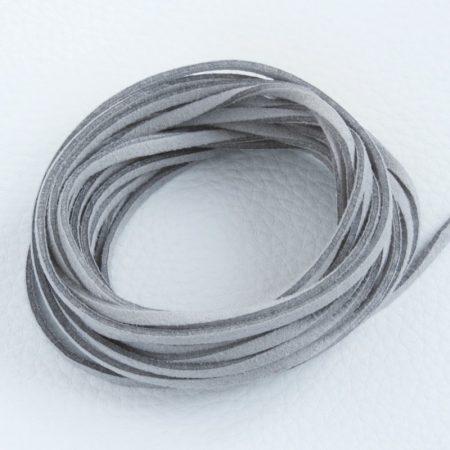 """Művelúr """"bőr"""" szál (hasítottbőr utánzat) 2,5 x 1,4mm-es - mv52 világos szürke - 4m"""