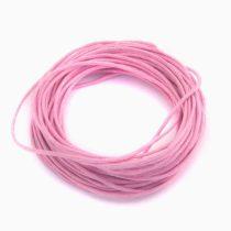 Viaszolt pamut zsinór 1mm vastagságú - v18 élénk rózsaszín - 5m