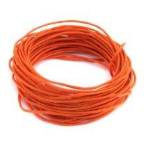 Viaszolt pamut zsinór 1mm vastagságú - v29 sötét narancs - 5m