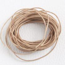 Viaszolt pamut zsinór 1mm vastagságú - v33 mandulabarna - 5m