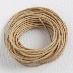 Viaszolt pamut zsinór 1mm vastagságú - v34 sárgásabb drapp - 5m