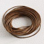 Viaszolt pamut zsinór 1mm vastagságú - v39 barna - 5m