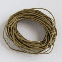 Viaszolt pamut zsinór 1mm vastagságú - v53 kekibarna - 5m
