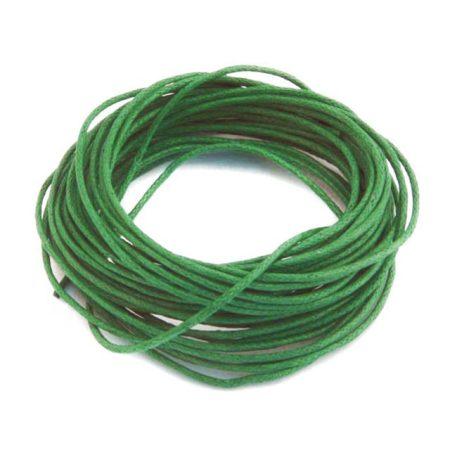 Viaszolt pamut zsinór 1mm vastagságú - v69 zöld - 5m