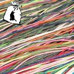 Viaszolt pamut zsinór 1mm vastagságú - v99 vegyes színek - 5 x 1m