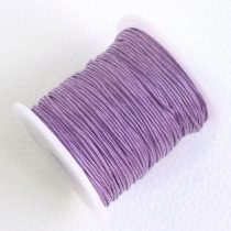 Viaszolt pamut zsinór 1mm vastagságú - v03 világos lila - kb. 70m