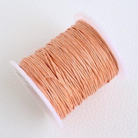 Viaszolt pamut zsinór 1mm vastagságú - v27 barack színű - kb. 70m