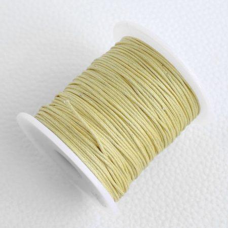 Viaszolt pamut zsinór 1mm vastagságú - v33 fáradt sárga - kb. 70m
