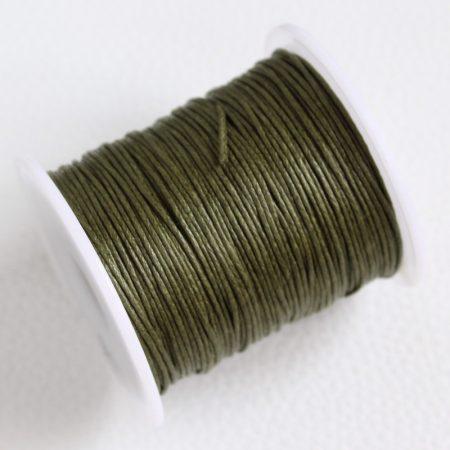 Viaszolt pamut zsinór 1mm vastagságú - v36 keki - kb. 70m