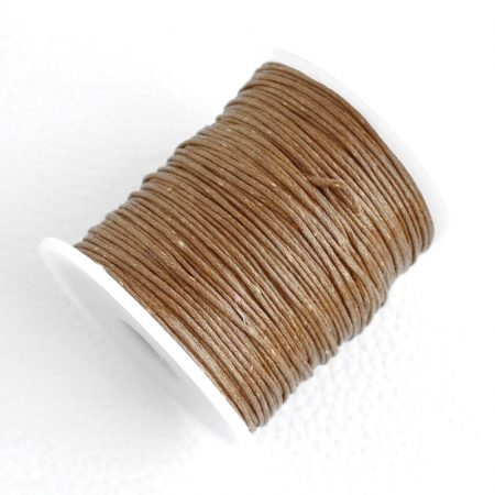 Viaszolt pamut zsinór 1mm vastagságú - v39 barna - kb. 70m