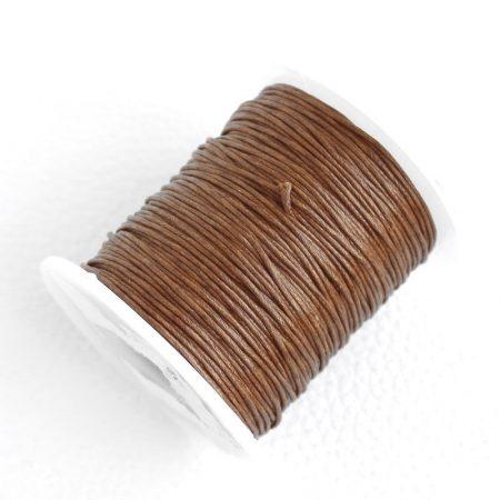 Viaszolt pamut zsinór 1mm vastagságú - v40 rozsdabarna - kb. 70m