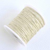 Viaszolt pamut zsinór 1mm vastagságú - v55  világos homok színű - kb. 70m