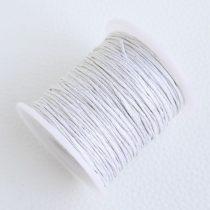Viaszolt pamut zsinór 1mm vastagságú - v56 fehér - kb. 70m
