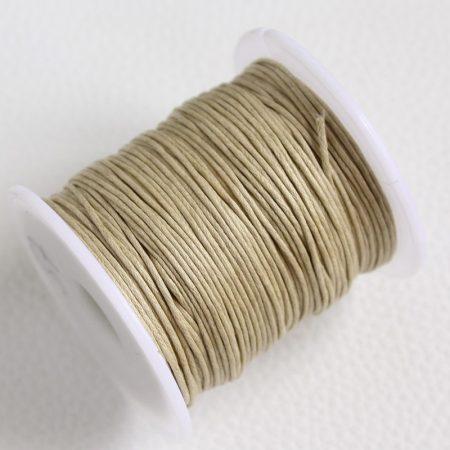 Viaszolt pamut zsinór 1mm vastagságú - v57 nyers színű - kb. 70m