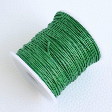 Viaszolt pamut zsinór 1mm vastagságú - v69 zöld - kb. 70m