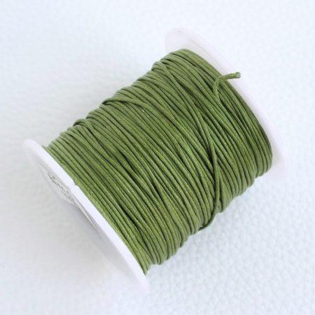 Viaszolt pamut zsinór 1mm vastagságú - v72 olívazöld - kb. 70m