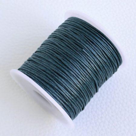 Viaszolt pamut zsinór 1mm vastagságú - v95 sötét viharkék - kb. 70m