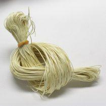 Viaszolt pamut zsinór 1mm vastagságú - v58 halvány sárga - kb. 80m