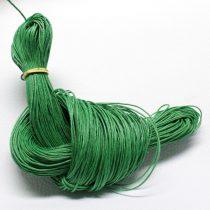 Viaszolt pamut zsinór 1mm vastagságú - v69 zöld - kb. 80m