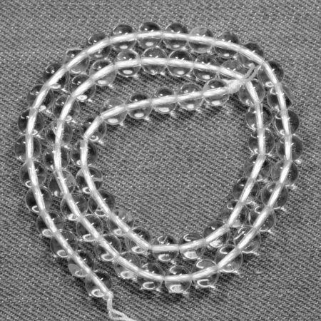 Hegyikristály (A minőségű) ásványgyöngy - 6mm-es golyó - 38-40cm-es szál